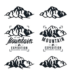 Mountain expedition badges and design elements vector image vector image