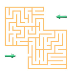 orange labyrinth with green arrows vector image