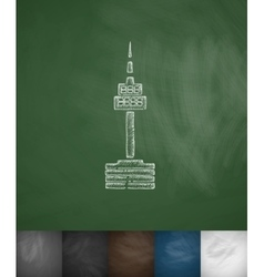 tower icon Hand drawn vector image vector image