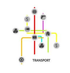 Transport scheme vector image