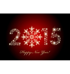 2015 Happy New Year magic background vector image