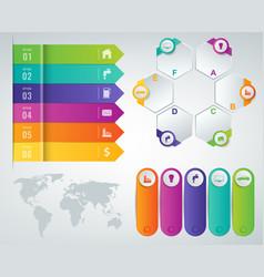 3d infographics templates set business vector image
