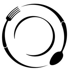 Abstract logo of a cafe or restaurant a spoon vector