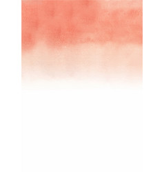 Abstract peach pink gradient background watercolor vector