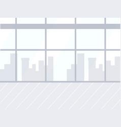 airport empty room interior skyscrapers in window vector image