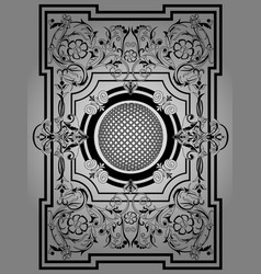 Antique black frame victorian ornament beautiful vector
