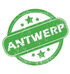 Antwerp green stamp vector