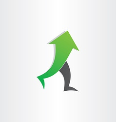 Arrow man walking go up success concept vector