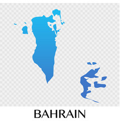 bahrain map in asia continent design vector image