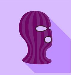 balaclava icon flat style vector image