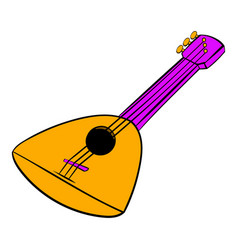 balalaika icon cartoon vector image