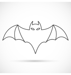 Bat outline icon vector image