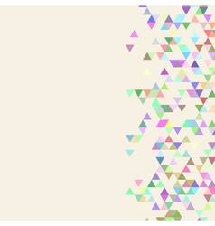 Beige triangle template vector