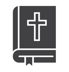 bible glyph icon easter and holiday book sign vector image