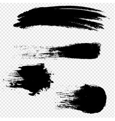 black blobs set with isolated transparent vector image