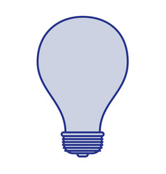 Blue silhouette of light bulb icon vector