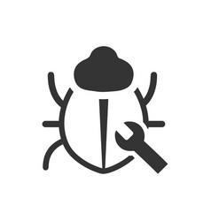 Bug fixing icon icon vector