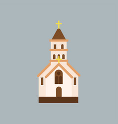 Building of orthodox church catholic temple with vector