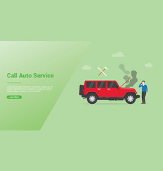 call car service auto mobile broken or damage vector image