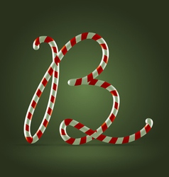 Candy cane abc B vector image vector image