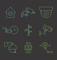 CCTV icons vector image