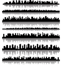 Cityscape silhouette city panoramas vector image