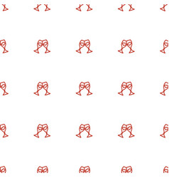 clink glasses icon pattern seamless white vector image