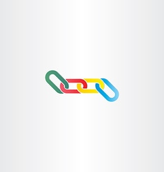 Colorful chain link symbol vector
