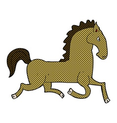 Comic cartoon running horse vector