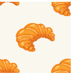 Croissant pattern seamless bakery vector
