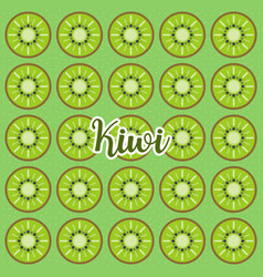 Cute and colorful kiwi patternabstract art backg vector