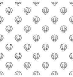 eco broccoli pattern seamless vector image