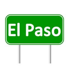 El Paso green road sign vector