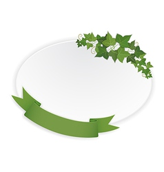 ellipse banner with ribbon and vine vector image