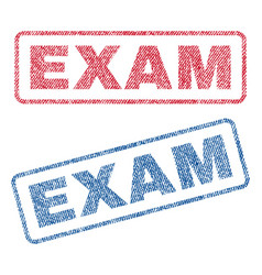 Exam textile stamps vector