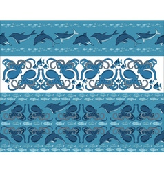 fish borders vector image