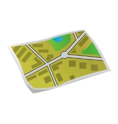 Flat map vector