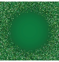 Glitter green round frame vector image vector image