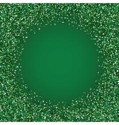 Glitter green round frame vector