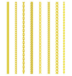 gold chains jewelry golden pattern border frames vector image