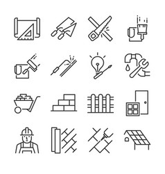 Home renovation icon set vector