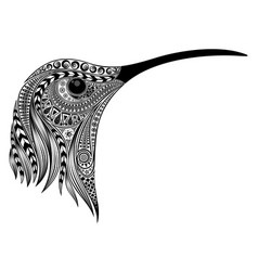 hummingbird head vector image