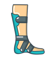 Leg in retainer icon cartoon style vector