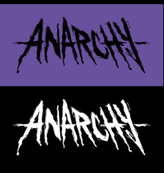 Lettering anarchy vector