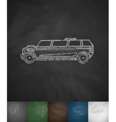 Limousine icon vector