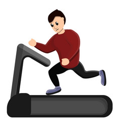 man running at treadmill icon cartoon style vector image