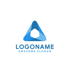 Modern abstract triangle logo icon template vector