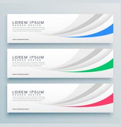 modern clean web banner or header design vector image