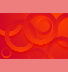 Modern red backgrounds 3d circle papercut layer vector