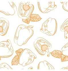 Monochrome seamless pattern of paprika vector